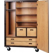 Mobile Wardrobe Storage Closet - 3 Shelves, 4 Drawers, 72