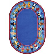 Children of Many Cultures Oval Rug (7'8