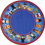 Children of Many Cultures Round Rug (7'7