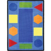 Sitting Shapes Classroom Rug (7'8