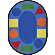 Sitting Shapes Oval Classroom Rug (7'8