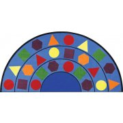 Sitting Shapes Round Classroom Rug (13'2