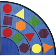 Sitting Shapes Quarter-Round Classroom Rug (6'7