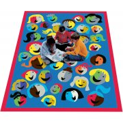 Joyful Faces Rectangle Carpet (5'4