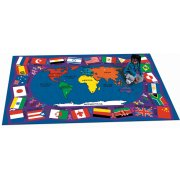 Flags of the World Rectangle Carpet (5'4