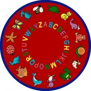 ABC Animals Round Carpet (7'7