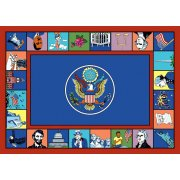 Symbols of America Rectangle Carpet (7'8