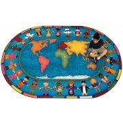 Hands Around the World Oval Carpet (5'4