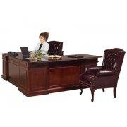 Executive U-Shape Office Desk w/Right Credenza