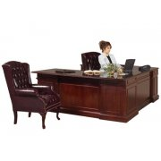 Executive U-Shaped Office Desk w/Left Credenza