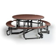 Uniframe Mobile Round Cafeteria Table - Painted, 60