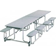 Uniframe Split Bench Unit - Chrome