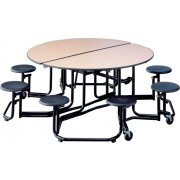 Uniframe 8 Stool Round Unit - Painted Frame
