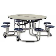Uniframe 8 Stool Round Unit - Chrome Frame