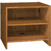 Glacier Modular Library Circulation Desk - Adj. Shelves