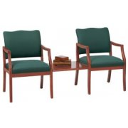 Franklin Reception Arm Chairs with Center Table