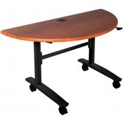 Half-Round Lumina Flipper Table - Black Cherry Top (48