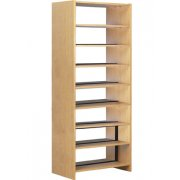 60in Base w/8 Shelves for Double Faced Shelf Unit