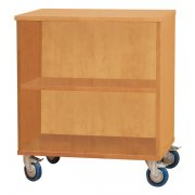 Open Mobile Storage Cabinet w/1 Shelf