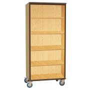 Mobile Storage Cabinet - Open (4-Shelf)