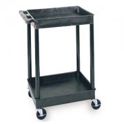 "Heavy Duty AV Utility Cart with 2 Shelves (24x18"")"