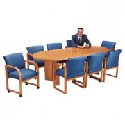 Solid Wood Racetrack Conference Table (120