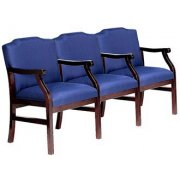 Traditional Grade 2 Seating - Center Arms (3 Seater)