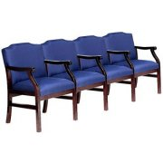 Traditional Grade 2 Seating - Center Arms (4 Seater)