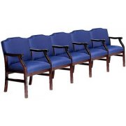 Traditional Grade 2 Seating - Center Arms (5 Seater)