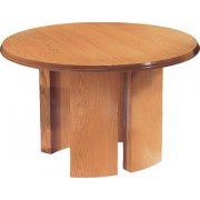 Solid Wood Round Conference Table (48