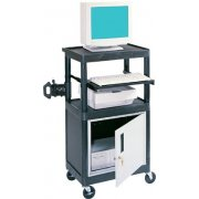 Stand Up Presentation Cabinet Cart Black