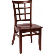 Pennington Wooden Library Chair - Wood Seat