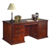 Americana Double Pedestal Office Desk in Cherry