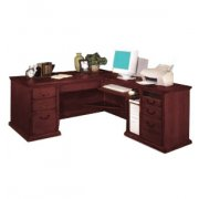 L-Shaped Office Desk w/Right Return in Cherry