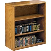 Contemporary Bookcase with 2 Shelves (3'Wx3'H)