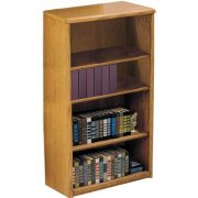 Contemporary Oak Veneer Bookcase (3'Wx4'H)