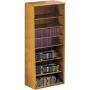 Contemporary Oak Veneer Bookcase (3'Wx7'H)