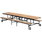 Mobile Cafeteria Table - Vinyl Edge, Chrome Frame, 97