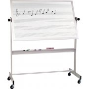 Mobile Porcelain Music Board Two Sides Alum Frame (4'x6')