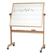 Reversible Porcelain Music Board and Cork Board (4'x6')