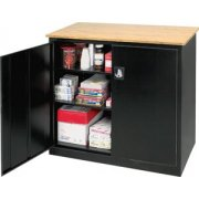 Extra Wide Counter Ht Storage w/Top (46