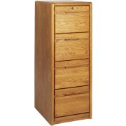 Contemporary 4-Drawer Vertical File