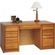 Contemporary Double Pedestal Office Desk