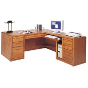 Contemp Exec. Office Desk - L-Shaped w/Rt. Rtn