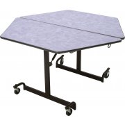 MIT Mobile Hexagon Cafeteria Table - Black Legs (48x48
