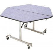 MIT Mobile Hexagon Cafeteria Table - Chrome Legs (48x48