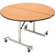 Mitchell Cafeteria Table 48in Round Top Chrome Legs
