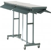 Portable Folding Coat Rack - 100 Hanger Cap., Charcoal Gray
