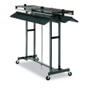 Portable Folding Coat Rack - 72 Hanger Capacity, Black (6')