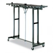 Portable Folding Coat Rack - 120 Hooks, Black (6')